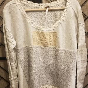 Free people mixed weave sweater